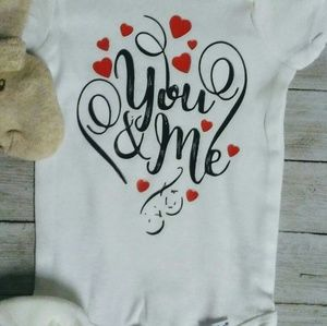 You and me baby onesie kids clothing